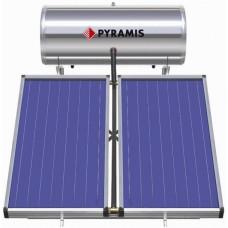 PYRAMIS (026001405) 200Lt / 4m² Επιλεκτικού συλλέκτη Τριπλής Ενέργειας Ηλιακός Θερμοσίφωνας