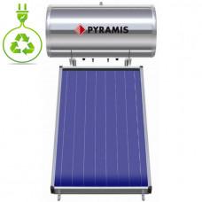PYRAMIS (026001105) 160Lt / 2m² Επιλεκτικού συλλέκτη Τριπλής Ενέργειας Ηλιακός Θερμοσίφωνας
