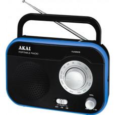 AKAI PR003A-410B Φορητό Ραδιόφωνο Black/Blue