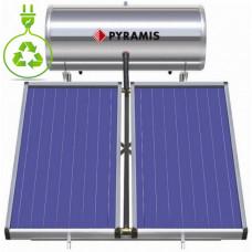 PYRAMIS (026002401) 160Lt / 2.3m² Επιλεκτικού συλλέκτη Τριπλής Ενέργειας Ηλιακός Θερμοσίφωνας