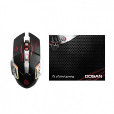 ZEROGROUND MS-2850GMS Dosan Gaming Set Mouse & Mousepad Black