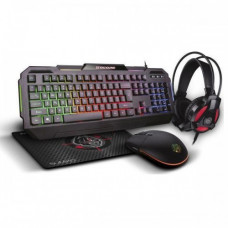 ZEROGROUND KB-1900GUHMS Sumiko Gaming Set 4 in 1 Black