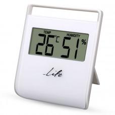 LIFE WES-102 Flexy Ψηφιακό Θερμόμετρο/ Υγρόμετρο White