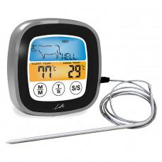 LIFE Well Done (221-0189) Ψηφιακό Θερμόμετρο Κρέατος & χρονόμετρο κουζίνας Black/Grey