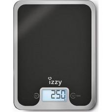 IZZY IZ-7004 Black Mirror Ζυγαριά Κουζίνας Black