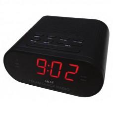 AKAI CR002A-219 Ράδιο-Ρολόι Black