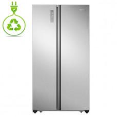HISENSE RS677N4BIE Ψυγείο Ντουλάπα Inox