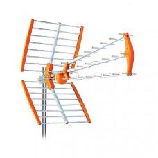UHF Τριπλή Εξωτερική Κεραία 18db Orange