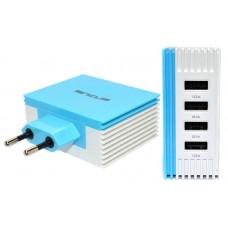 ANCUS Multi Charger USB 4.2A Φορτιστής Ταξιδίου White/Blue