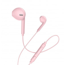 Hoco M55 Hands Free Earphones Stereo 3.5mm Ροζ Μικρόφωνο Πλήκτρο Λειτουργίας