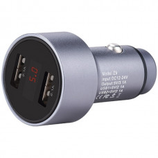 Hoco Z9 Φορτιστής Αυτοκινήτου Kingkong Dual USB Fast Charging 5V/2.1A Είσοδο 12/24V Ασημί