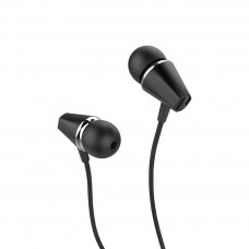 Hoco M34 Hands Free Earphones Stereo 3.5mm Μαύρο Μικρόφωνο Πλήκτρο Λειτουργίας