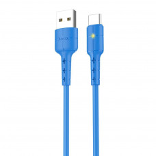 Hoco X30 USB Type-C Fast Charging 2.0A LED Ένδειξη 1,2m. Blue