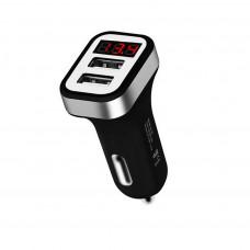 Hoco Z3 Φορτιστής Αυτοκινήτου Dual USB Fast Charging 5V/3.1A Είσοδο 12/24V Μαύρος