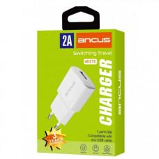 ANCUS Supreme Series USB 2 σε 1 5V/2A Φορτιστής Ταξιδίου White