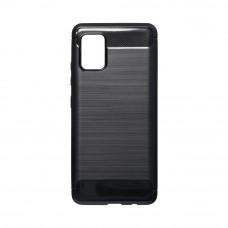 Θήκη Σιλικόνης Carbon Back Cover για Samsung Galaxy A51 Black
