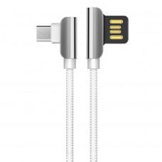 HOCO U42 Exquisite Steel USB σε Micro-USB Fast Charging 1.2m White