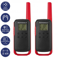 MOTOROLA T62 Talkabout Twin Pack Walkie-Talkie Black/Red