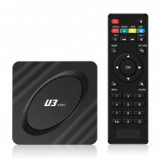 U2 Mini Ultra HD 4K Android TV Box Black