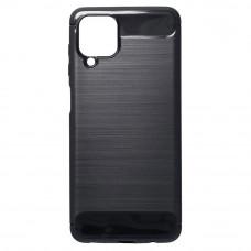 Θήκη Σιλικόνης Carbon Back Cover για Samsung Galaxy A12 Black