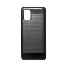 Θήκη Σιλικόνης Carbon Back Cover για Samsung Galaxy A31 Black