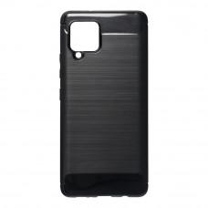 Θήκη Σιλικόνης Carbon Back Cover για Samsung Galaxy A42 Black