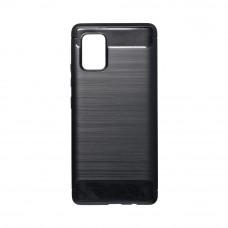 Θήκη Σιλικόνης Carbon Back Cover για Samsung Galaxy A71 Black